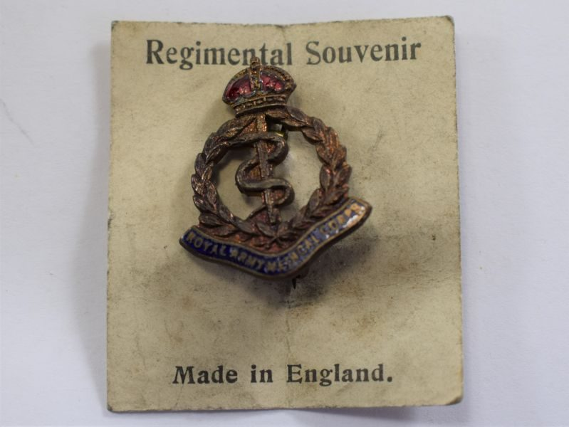 Original WW2 Royal Army Medical Corps Sweetheart Brooch Still On Backing Card