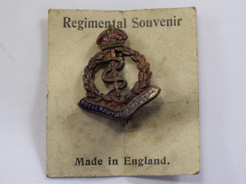 Original WW2 Royal Army Medical Corps Sweetheart Brooch Still On Backing Card