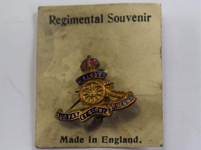 Original WW2 Royal Artillery Sweetheart Brooch Still On Backing Card