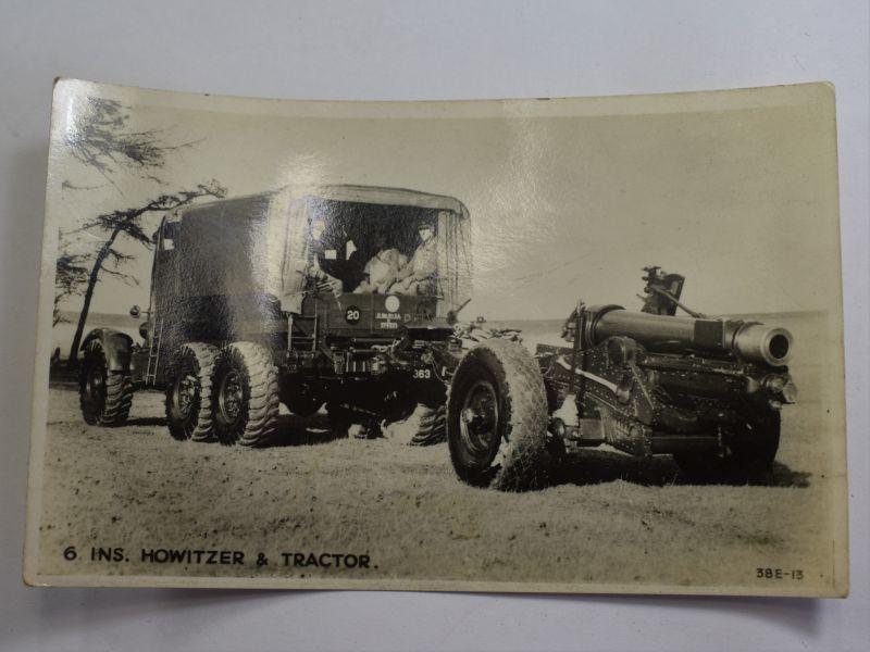 42 Original WW2 Photograph 6inch Howitzer & Gun Tractor
