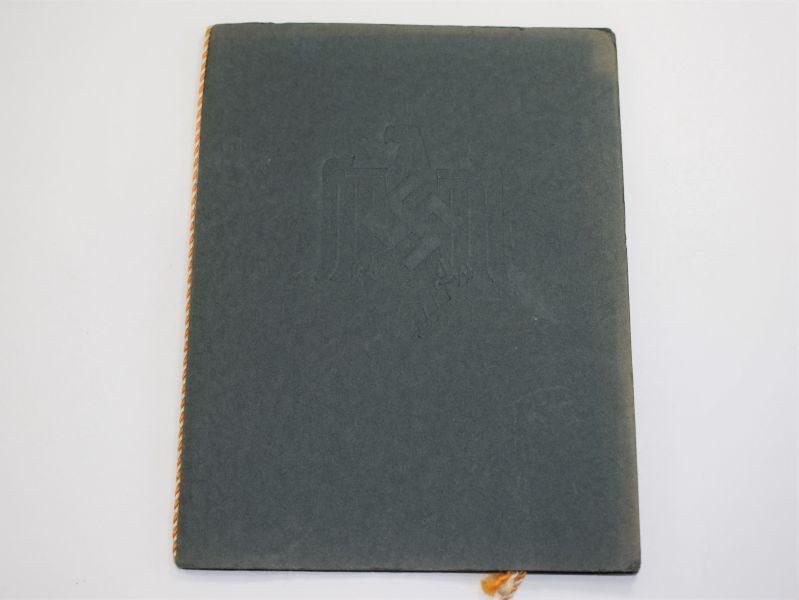 45 Original WW2 Nazi nationalsozialistischer reichsbund für leibesübungen Award Document