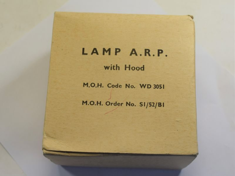 Excellent Unissued WW2 ARP Lamp in Original Box of Issue