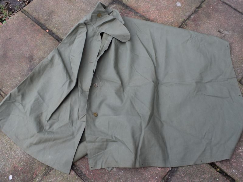 56 Unissued British Army Jungle Green Poncho Dated 1952