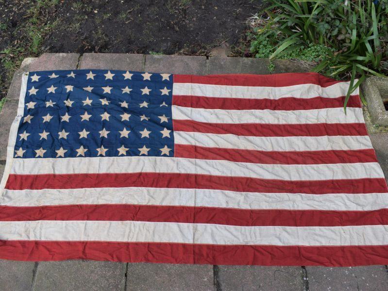 Large WW1 WW2 US National Stars & Stripes Flag