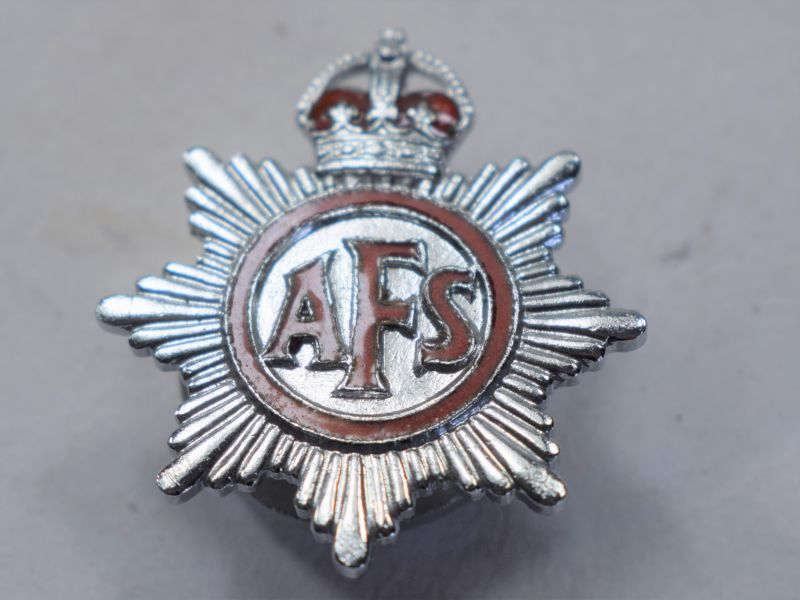N) 1930s to Early WW2 Auxiliary Fire Service Lapel Badge