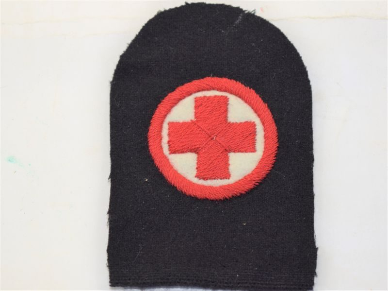 T) Original WW1 WW2? Royal Navy Medics Tombstone Sleeve Badge