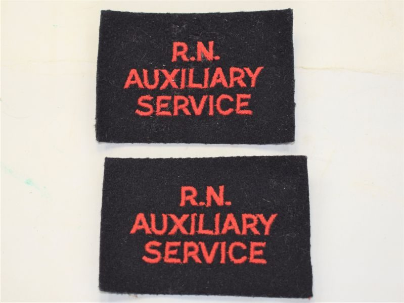 U) Original Post WW2 Royal Naval Auxiliary Service Cloth Badges