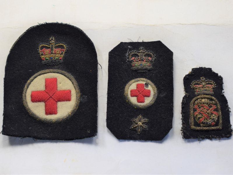 V) Set of 3 Original Post WW2 Royal Navy Medics Badges