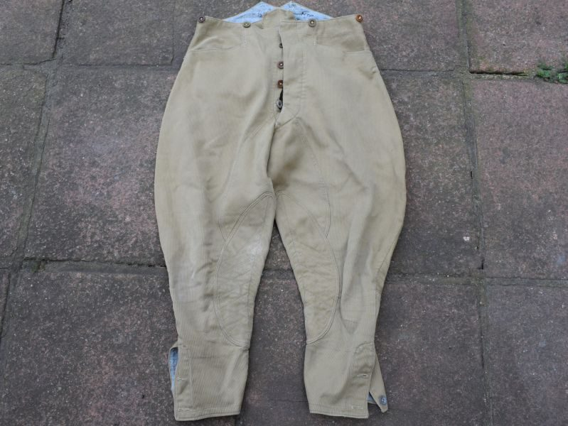 B27) Excellent Original WW2 Indian Made Khaki Drill Cord Breeches