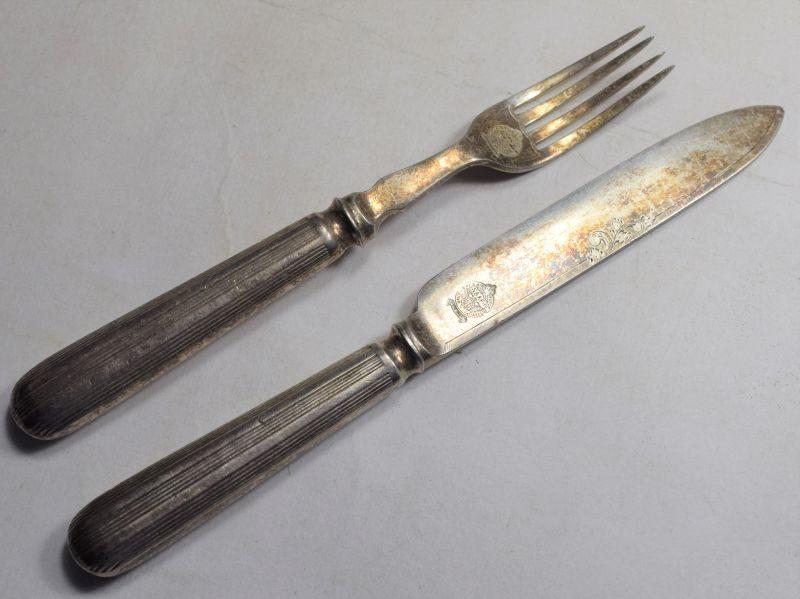 Excellent Original WW2 NAAFI Marked Knife & Fork Pair