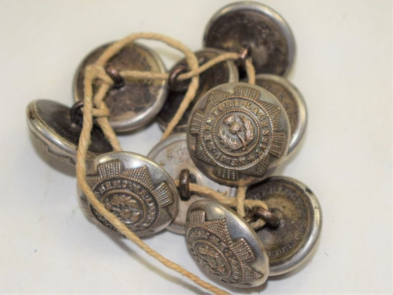 B37) Set of 10 Victorian Buttons to The Scots Guards Sherlock & Co Covent Garden