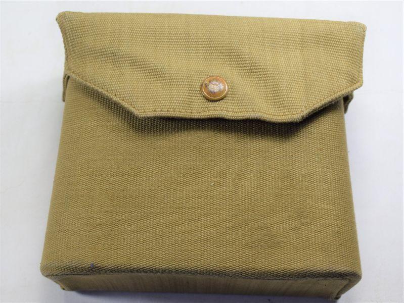 B41) Near Mint Early Type 1937 Pattern Web Binocular Case MECo 1940