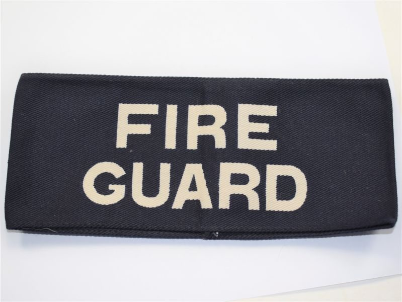 AV) Original 2nd Pattern Home front Fire Guard Armlet with White Writing