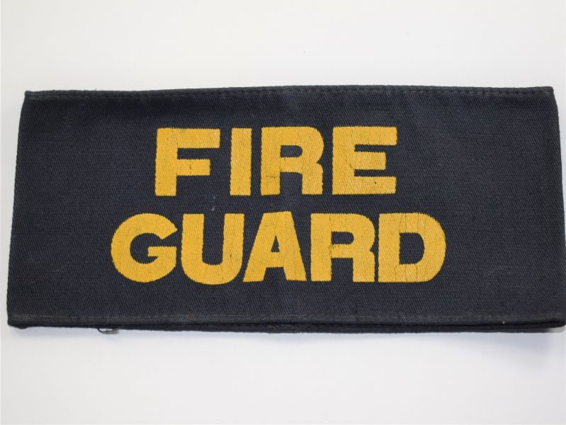 AX) Original 1st Pattern Home front Fire Guard Armlet with Yellow Writing