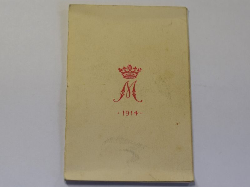 1 Original WW1 Princess Mary Gift Tin Christmas 1914 Card