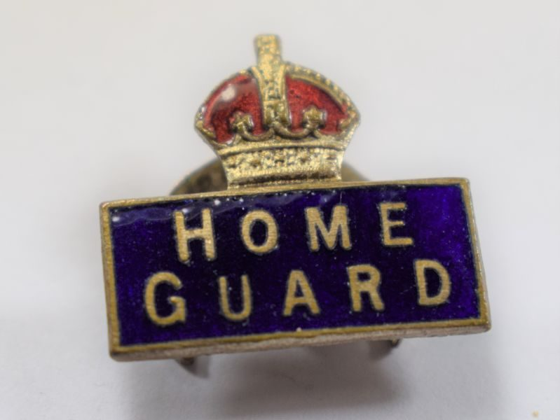 AAE) Excellent Original WW2 Rectangular Home Guard Lapel Badge