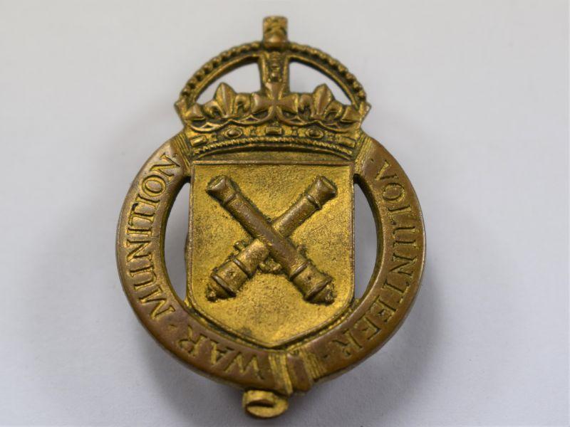 AAI) Excellent Original WW1 War Munitions Volunteer Lapel Badge