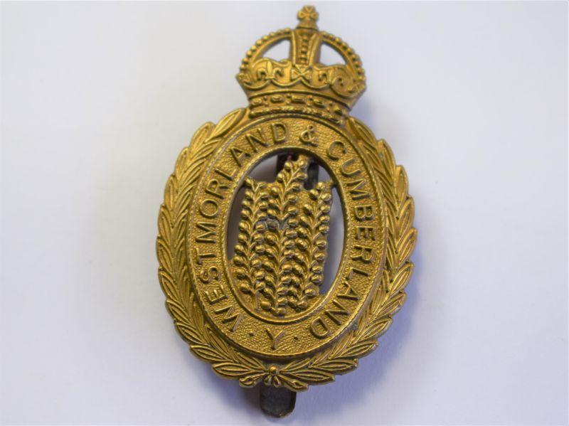 10 WW1 WW2 Westmorland & Cumberland Yeomanry Cap Badge