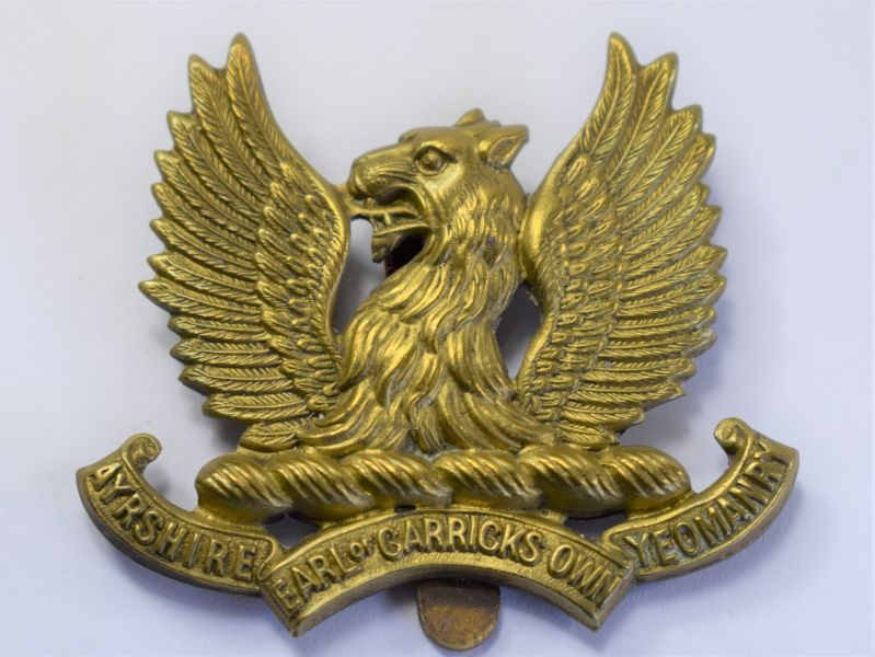 11 WW1 WW2 Earl of Garricks Own Ayrshire Yeomanry Cap Badge