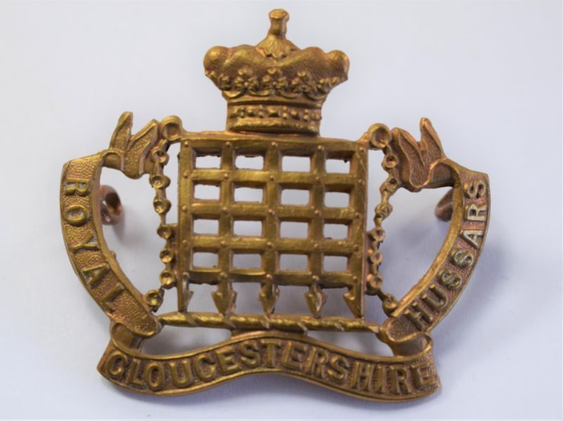 14 Original WW1 Royal Gloucestershire Hussars Cap Badge