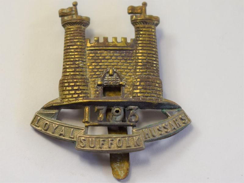 20 Original WW1 Loyal Suffolk Hussars Cap Badge