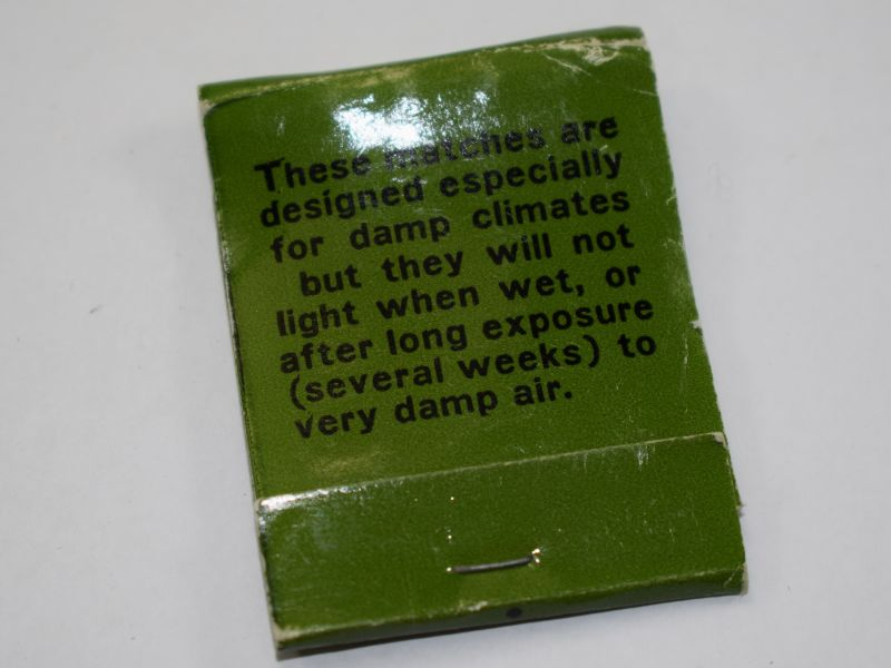 Good Original US Army Vietnam War Match Book for Damp Climates