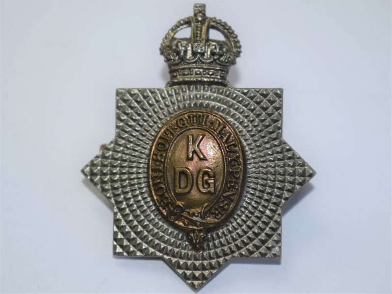 35 Original WW1 WW2 Kings Dragoon Guards Cap Badge