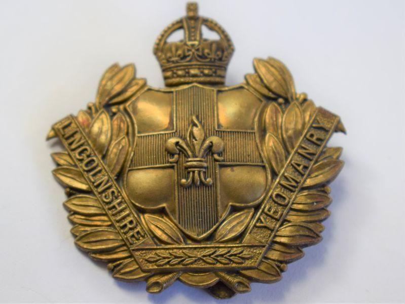51 Original WW1 WW2 Lincolnshire Regiment Cap Badge