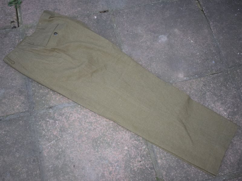 AAT) Mint WW2 US Army Trousers Field Serge Special With Gas Flap Dated 1944