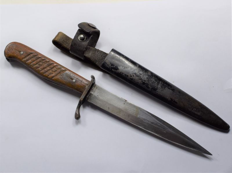 Excellent Original WW1 German Army Nahkampfmesser Trench Knife