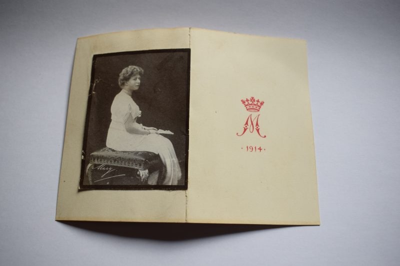 B39) Original WW1 Princess Mary Christmas Card & Mary Photograph Christmas 1914