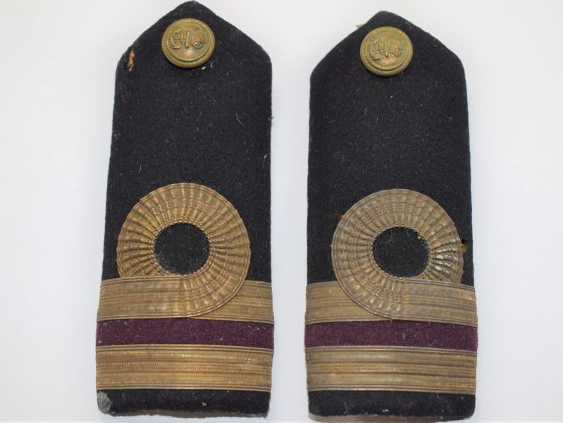 B14) Original WW1 WW2 Royal Navy Officers Epaulettes Slides.