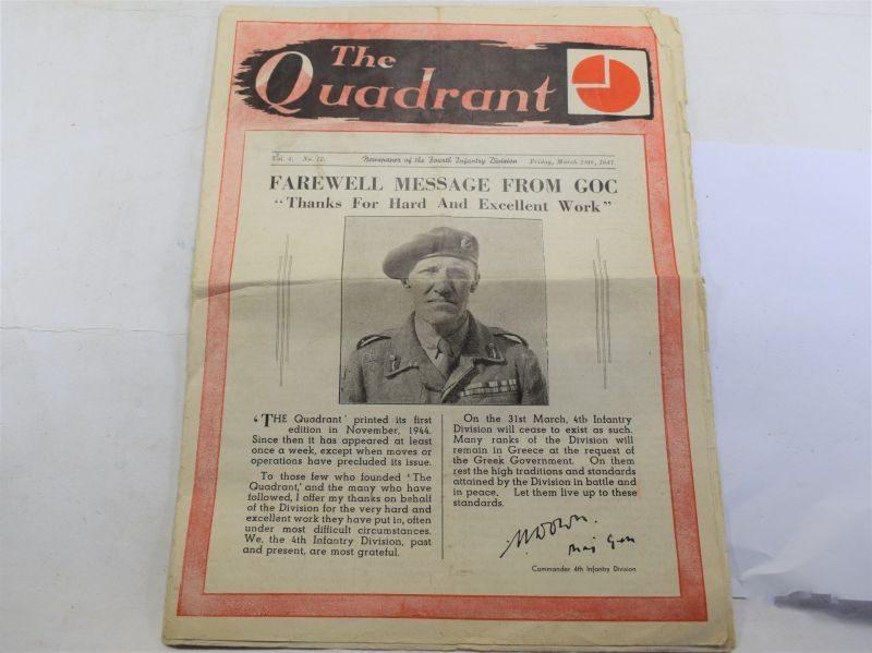 Original British 4th Infantry Division Farewell Newspaper The Quadrant