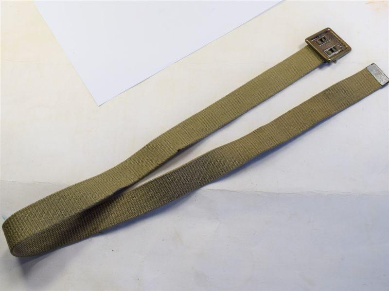 86 Good Original WW2 US Army Issue Webbing Waist belt & Buckle 1944