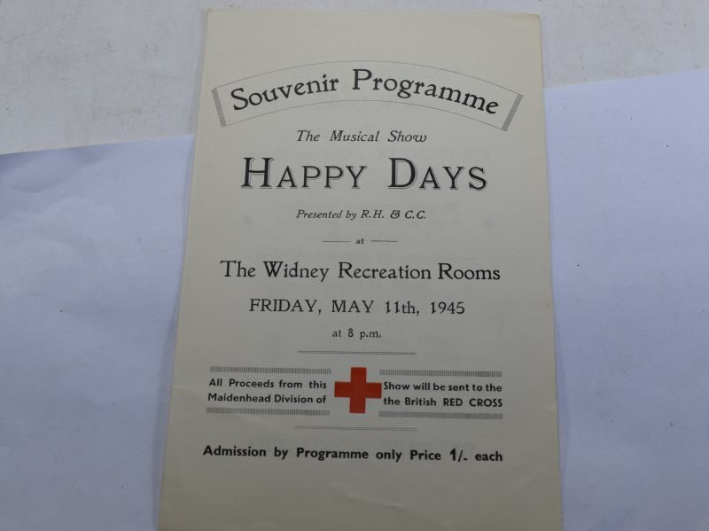 B19) Original Late WW2 Musical Show program me Happy Days May 1945