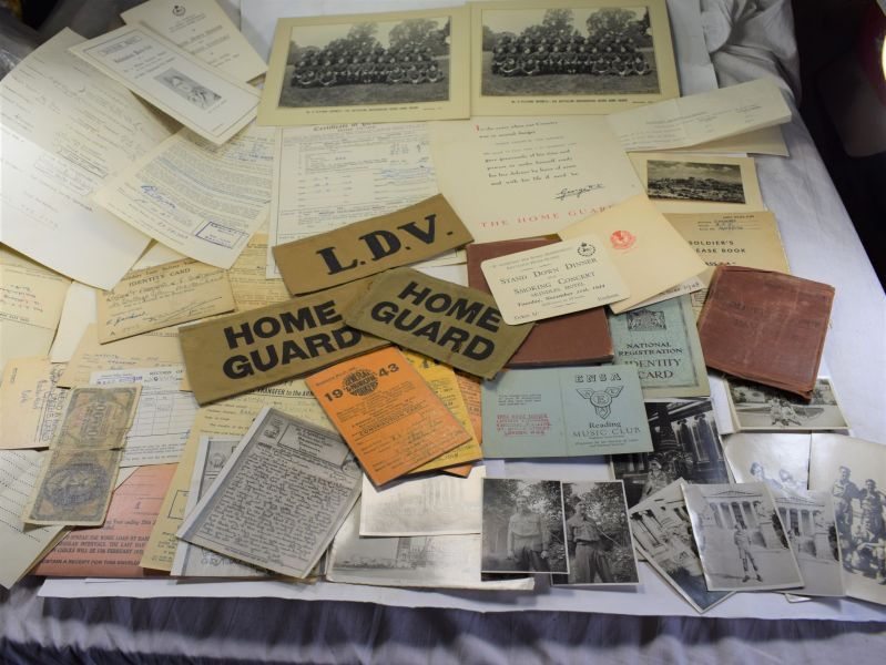 B21) Large Collection of Paperwork, Photos, Armbands to R.F.J.Gardener LDV, HG Army Etc