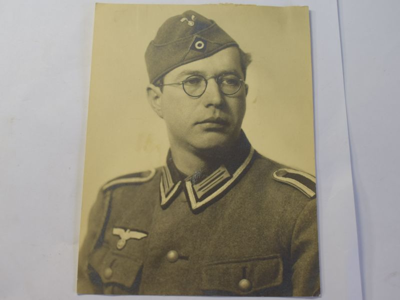 96 Original Large Size Photo of Nazi Soldier With KIA Details to Rear