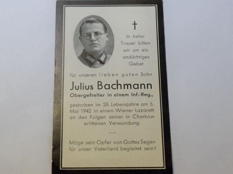 97 Original WW2 German Army Officers Memorial Card