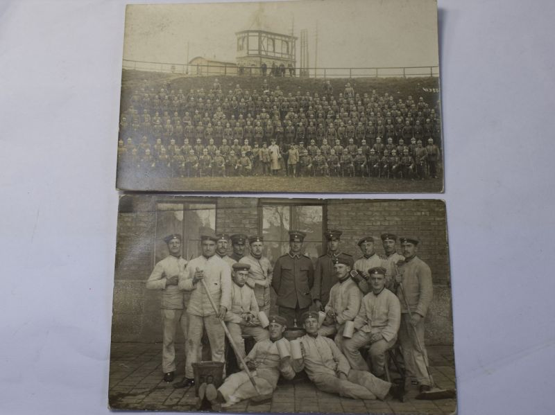 E) Nice Original WW1 German Army Group Photograph Pair