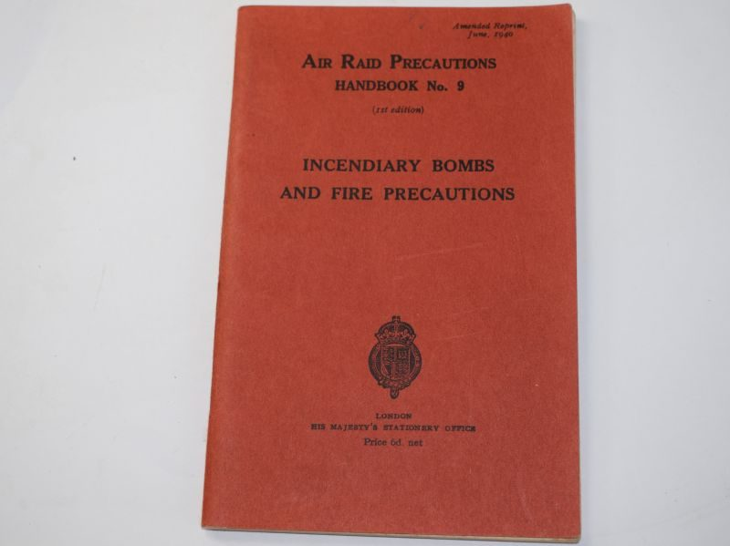 G) Original WW2 ARP Handbook No9 Incendiary Bombs & Fire Precautions 1940