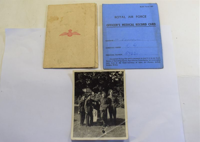 B23) WW2 RAF Coltishall Christmas Menu 1944, RAF Officers Medical Card & Photograph