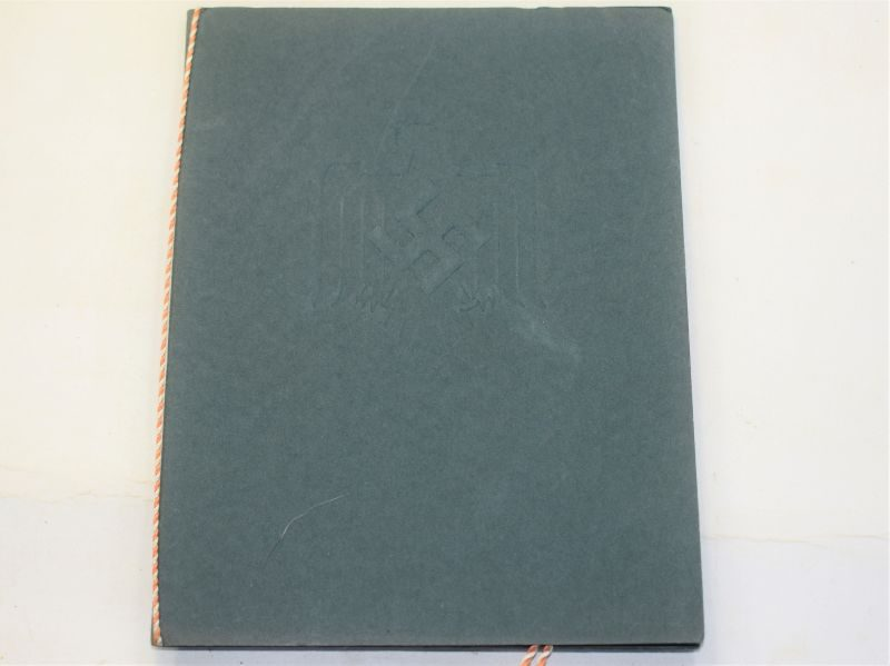 AAR) Original WW2 Nazi NSRL Award Document Dated 1942