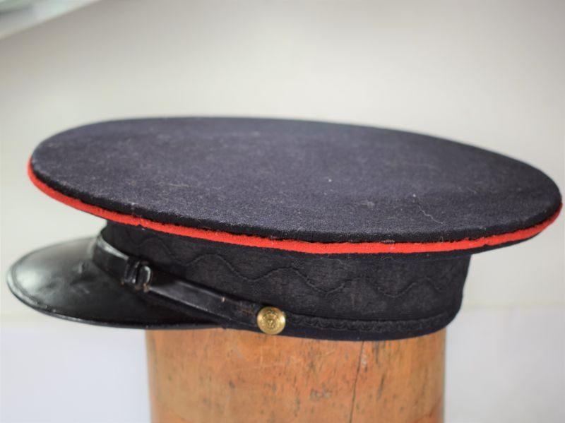 B50) Original WW1 Herefordshire Regiment Officers Dress Cap & ID 521 R.T.Carver