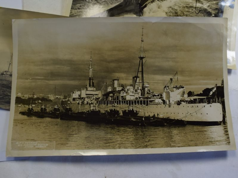 Large Collection paperwork, photos, medals H.W.Bull RN Ships, Submarines 1928-53