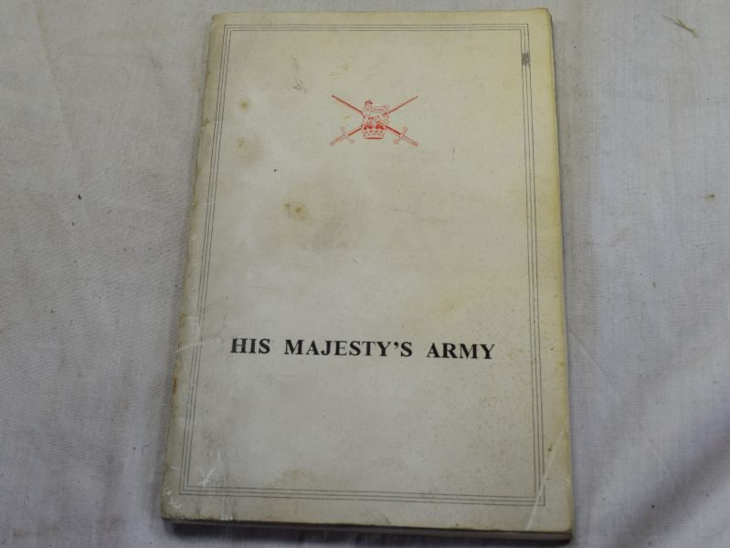 95) WW2 1939 Dated Pamphlet His Majesty's Army