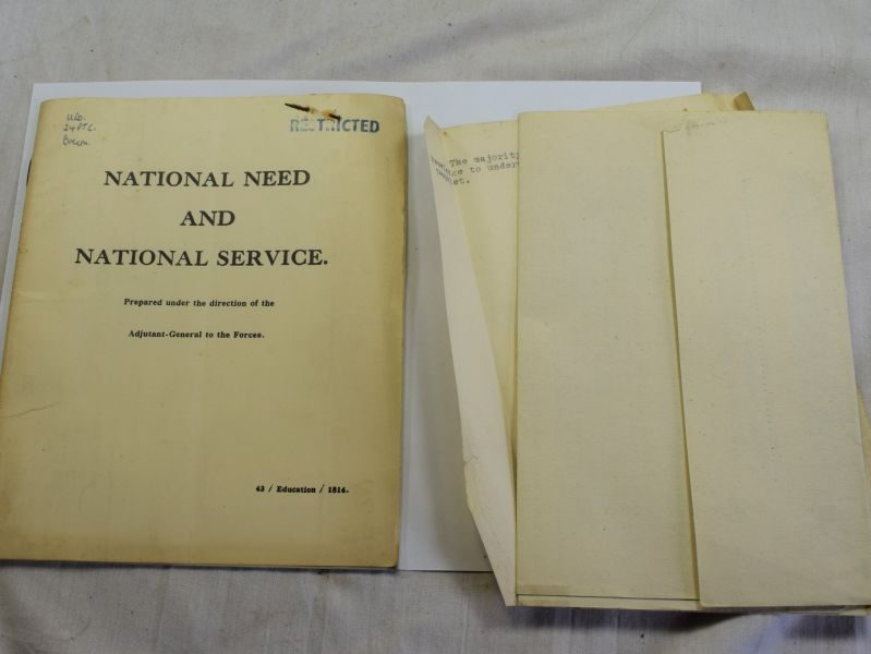 98) Early Post WW2 Pamphlet National Need & National Service