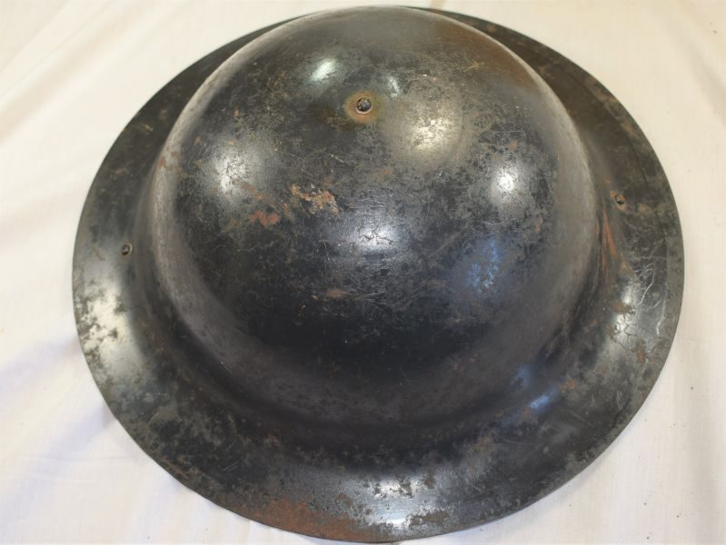 11) Interesting WW2 British Home Front Steel Helmet Dated 1940