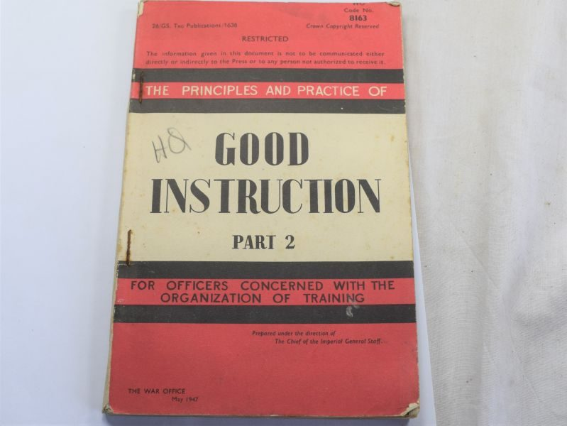 108) Post WW2 Officers Booklet Good Instruction Part 2 1947