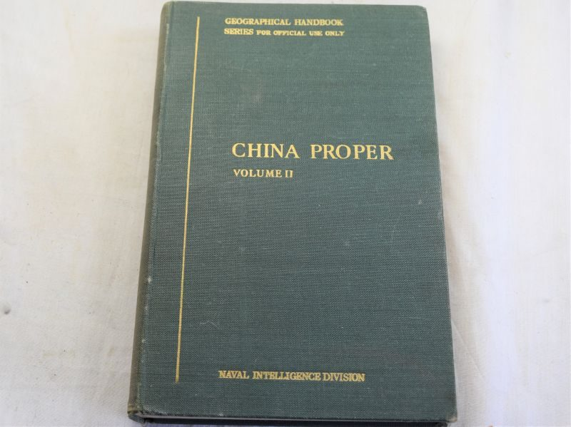 WW2 British Naval Intelligence Geographic Handbook China Propper Volume II