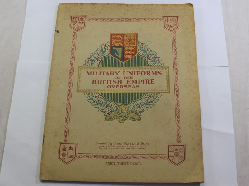L) Late 1930s John Players & Son Cigarette Card Album of Military Uniforms of The British Empire Overseas